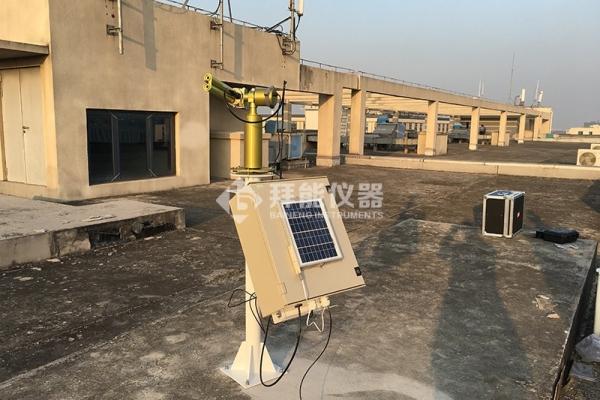 上海拜能为中科院上海高等研究院提供的太阳光度计经过验收投入使用