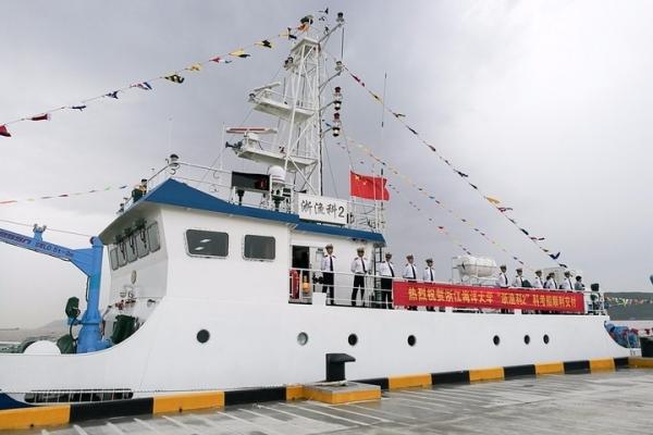 """我公司为浙江海洋大学""""浙渔科2""""科考船提供的船载气象站通过验收"""