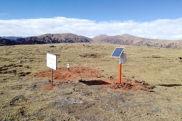 我公司为中国电建集团提供的无线自动气象站在西藏安装调试完毕